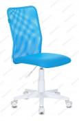 Кресло Бюрократ KD-9 WH цветная сетка/ткань пластик белый