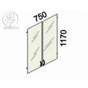 Двери стеклянные (тонировка) на 3 секции с замком Альфа 61 (62,63).38