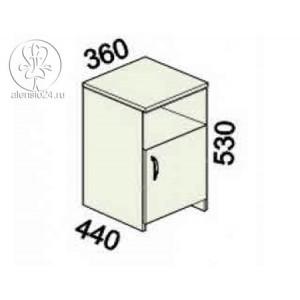 Тумба с дверью Альфа 61 (62,63).44