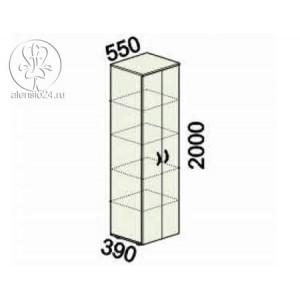 Шкаф 5 секций узкий с замком Альфа 61 (62,63).50