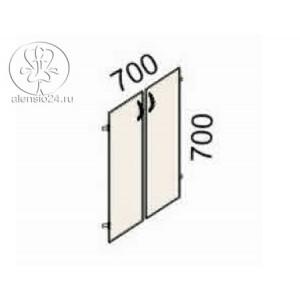 Двери на 2 секции Рубин 41(42).37