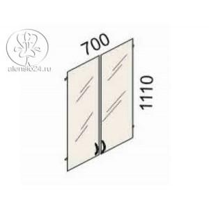 Двери стеклянные на 3 секции  Рубин 41(42).38