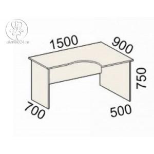 Стол эргономичный правый Рубин 41(42).45