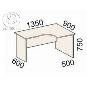Стол эргономичный правый Рубин 41(42).47