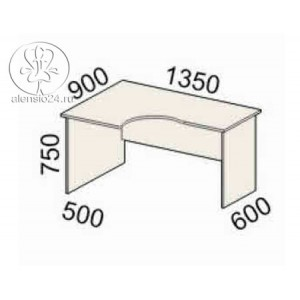 Стол эргономичный левый Рубин 41(42).48