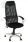 Кресло Элегия сетка черная, хром
