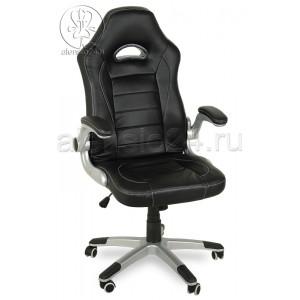 Геймерское компьютерное кресло BY-8112 черный, пластик серебро