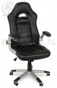 Кресло BY-8112 черный, пластик серебро