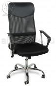 Кресло BY-2001 черный ткань-сетка, основание хром