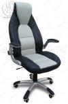 Кресло CX-0255H черное, вставки ткань