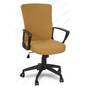 Кресло руководителя RT-2005-1 ткань коричневая, пластик черный