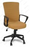 Кресло RT-2005-1 ткань коричневая, пластик черный