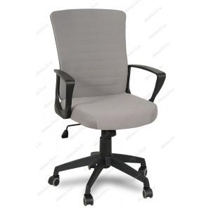 Кресло руководителя RT-2005-1 ткань серая, пластик черный