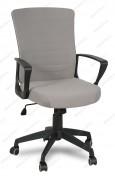 Кресло RT-2005-1 ткань серая, пластик черный