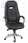 Кресло руководителя RT-331-1 кожзам черный, хром