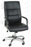 Кресло руководителя RT-333A кожзам черный, хром