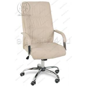 Кресло руководителя RT-333A ткань бежевый, хром