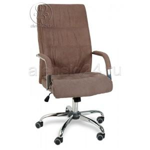 Кресло руководителя RT-333A ткань темно-коричневый, хром