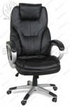 Кресло руководителя RT-345 кожзам черный, пластик серебро