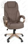 Кресло руководителя RT-345 ткань темно-коричневый, пластик золото
