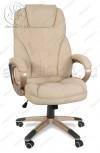 Кресло руководителя RT-345 ткань бежевый, пластик золото