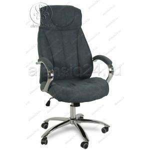 Кресло руководителя RT-359 ткань темно-коричневый, хром