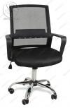 Кресло BY-2314 черный ткань-сетка, пластик черный, хром