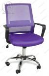 Кресло BY-2314 фиолетовый ткань-сетка, пластик черный, хром