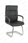 Кресло BY-7652 черный кожзам, полозья хром
