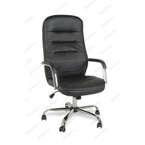 Кресло руководителя BY-9503 черный кожзам, хром