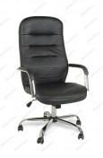 Кресло BY-9503 черный кожзам, хром