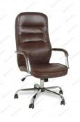 Кресло BY-9503 коричневый кожзам, хром