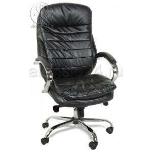 Кресло руководителя BY-9690 черный кожзам, хром, мультиблок