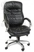 Кресло BY-9690 черный кожзам, хром, мультиблок