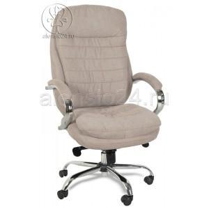 Кресло руководителя BY-9690 бежевая ткань, хром, мультиблок