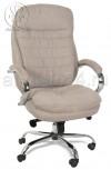 Кресло BY-9690 бежевая ткань, хром, мультиблок