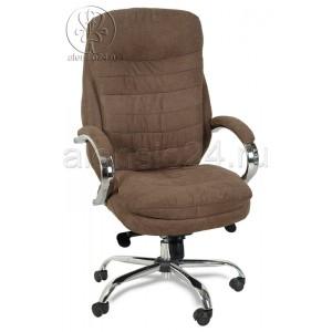 Кресло руководителя BY-9690 коричневая ткань, хром, мультиблок