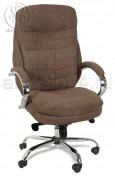 Кресло BY-9690 коричневая ткань, хром, мультиблок