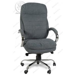 Кресло руководителя BY-9690 серая ткань, хром, мультиблок