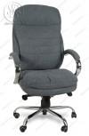 Кресло BY-9690 серая ткань, хром, мультиблок
