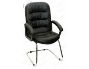 Кресло Фортуна П (062) черная на полозьях