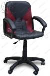 Кресло Фортуна 1 черная вставки бордовые