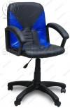 Кресло Фортуна 1 черная вставки синие