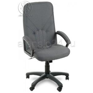 Офисное кресло руководителя Фортуна 2 ткань серая