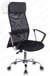 Кресло KB-6N черный TW-01 TW-11 сетка пятилучие хром