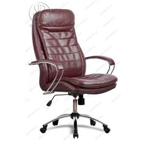 Кресло Метта LK-3 Ch 722 эко-кожа бордовая