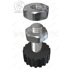 Регулируемая опора для металлического стеллажа